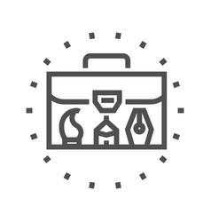 portfolio line icon vector image