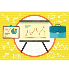 Stand with charts and parameters vector image vector image