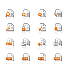 Documents Icons 1 Graphite Series vector image vector image