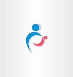 parent and child icon logo sign element vector image vector image