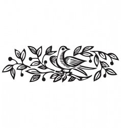 antique ornament engraving vector image vector image