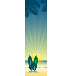 beach banner 3 vector image