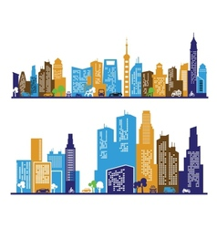 color city vector image vector image