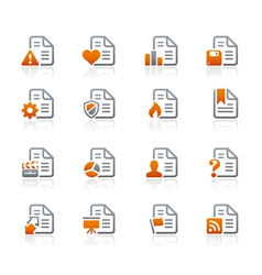 Documents Icons 2 Graphite Series vector image