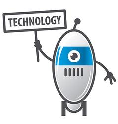logo robot sign technology vector image