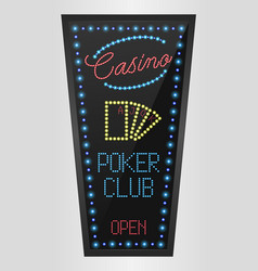 Retro sign with blue lights vector