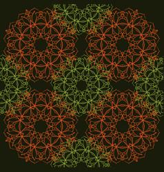 seamless pattern of simple mandalas vector image vector image