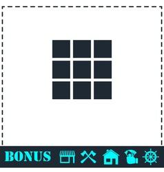 Building block icon flat vector image vector image