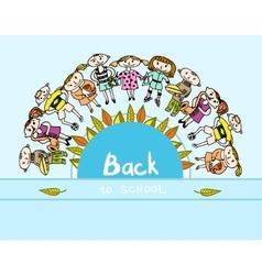 Decorative back to school kids background vector