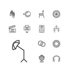 13 studio icons vector
