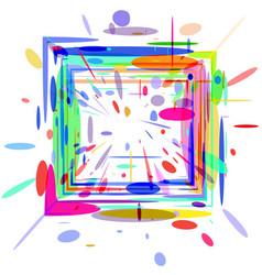 3d colored square vector