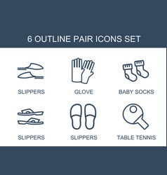 6 pair icons vector