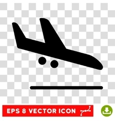 Aiplane Landing Eps Icon vector