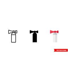 Air horn icon 3 types color black and white vector