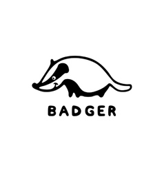 Badger logo isolated on white vector