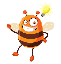 Bee has a great idea on white background vector