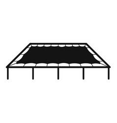 Big trampoline icon simple style vector