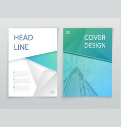 Blue green business template flayer or vector