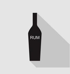 bottle rum icon vector image