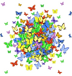 Butterfly ball vector