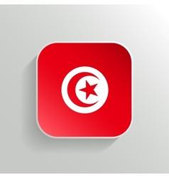 Button - Tunisia Flag Icon vector image