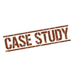 Case study stamp vector