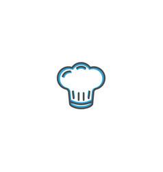 chef icon design gastronomy icon vector image