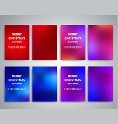 christmas flyer design templates vector image