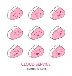 cloud service 2 vector image