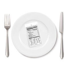 Concept of diet nutrition facts label instead of vector