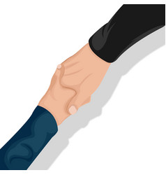 Corporate business handshake top view vector