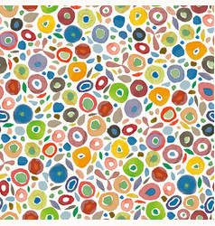 cream pattern with colorful dots vector image