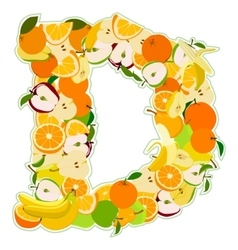 D made of fruits vector