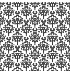 Decorative maple tree seamless pattern vector