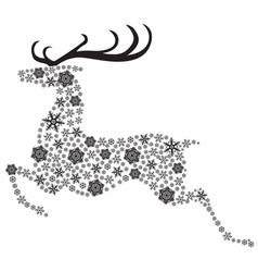 Deer black vector