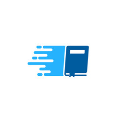Delivery book logo icon design vector