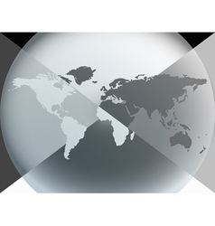 earth globe graphic vector image