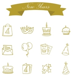 Element of new year icons art vector image
