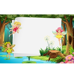 Fairies and sign vector