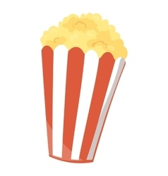 Fast food popcorn icon vector