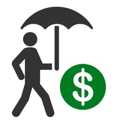 Financial insurance icon from Business Bicolor Set vector image