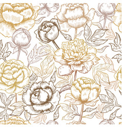 floral pattern peonies textile design pictures of vector image