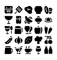 Food Icons 7 vector image