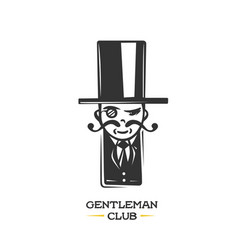gentleman logo design element vector image