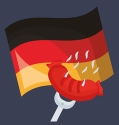 germany flag with sausage vector image