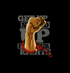 get up vector image