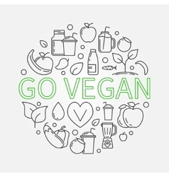 Go Vegan vector image
