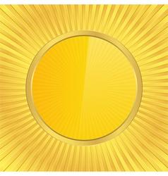 golden circle vector image