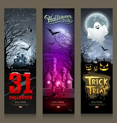Happy Halloween collections banner vertical design vector image