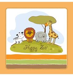 happy zoo vector image